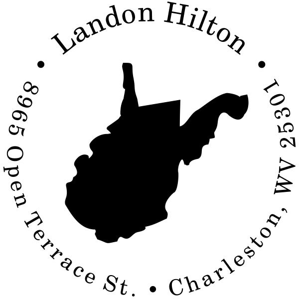 West Virginia Round Address Stamp