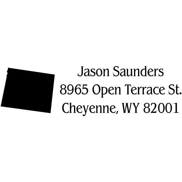 Wyoming Return Address Stamp