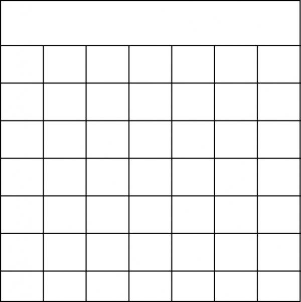 Blank Calendar Journal Stamp