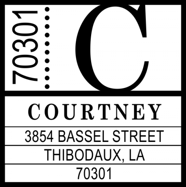 Courtney Contemporary Address Stamp