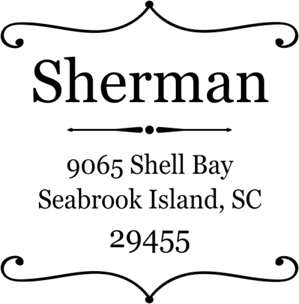 Sherman Square Deco Address Stamp