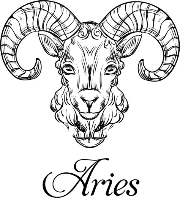 Modern Aries Illustration Hand Stamp