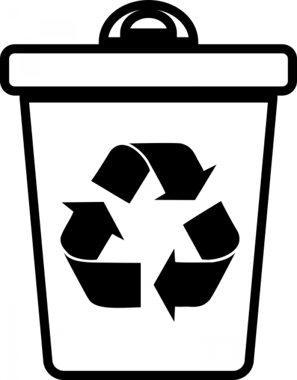 Recycle Can Rubber Stamp