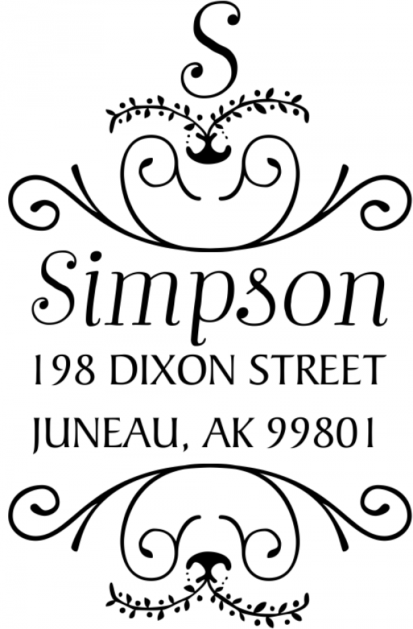 Simpson Ornamental Address Stamp