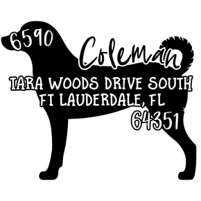 Address stamp dog \u00abNova Scotia DUCK TOLLING RETRIEVER\u00bb with personal address and motif-stamp dog stamp wooden breed toller