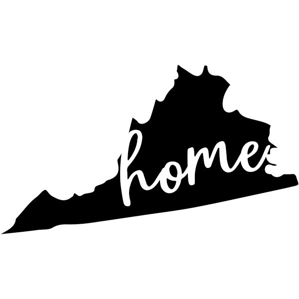 Virginia Home window decal
