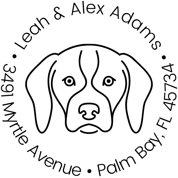 Hound Dog Return Address Custom Return Address Self Inking Stamp Dog Lover Stamp Hound Dog Stamp