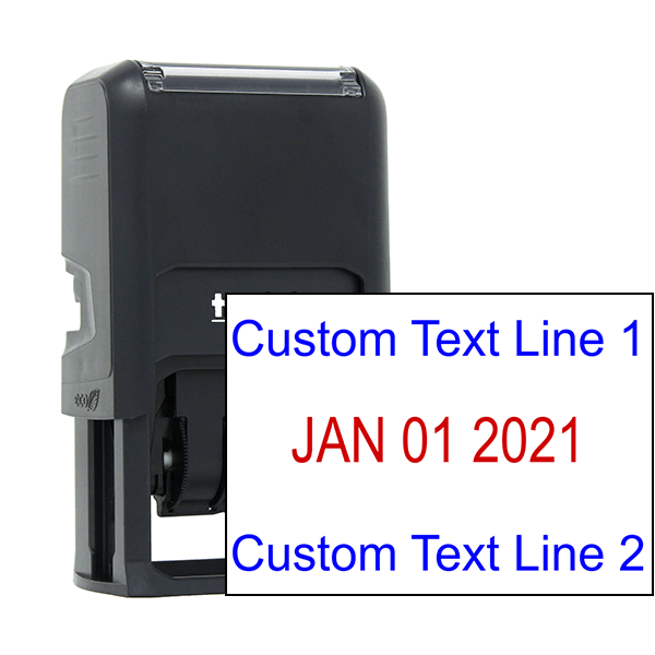 Self-Inking Top and Bottom Line Custom Date Stamp
