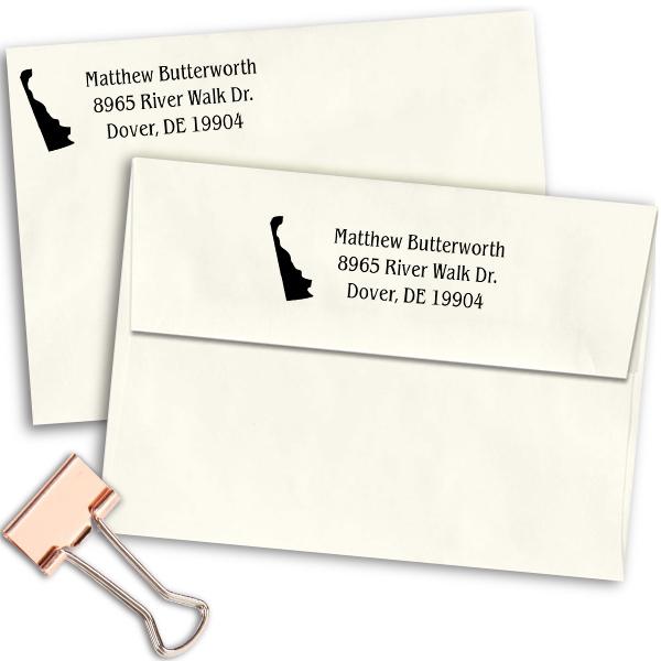 Delaware Return Address Stamp Imprint Example