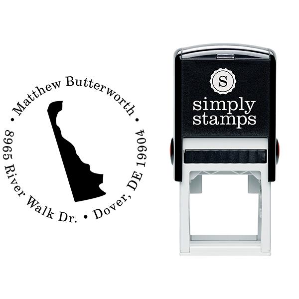 Delaware Round Address Stamp Body and Design
