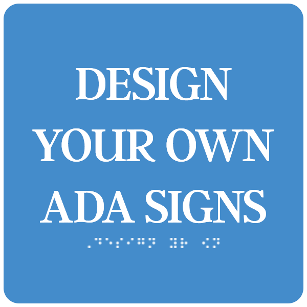 """ADA Sign Square 8"""" x 8"""""""
