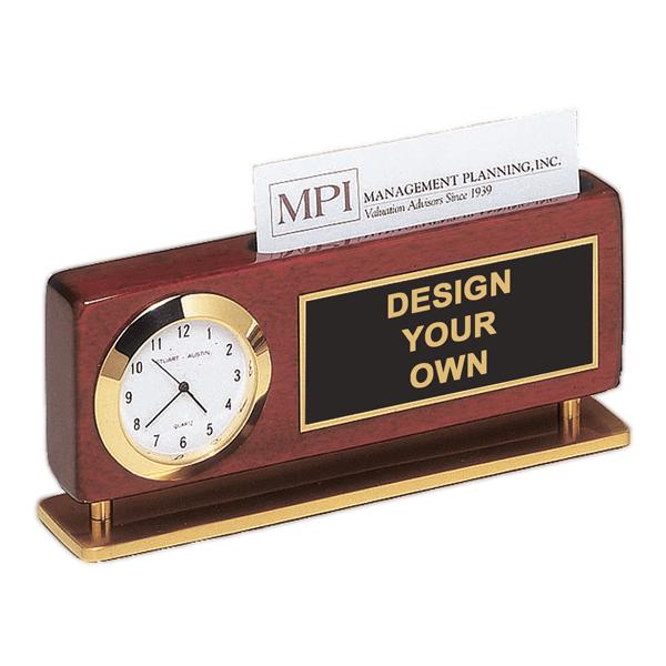 Desk Clock w/ Card Holder - BC893