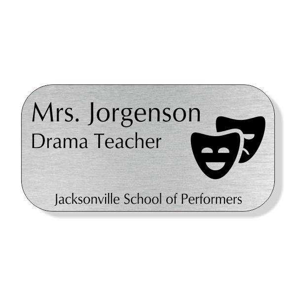 Drama Teacher School Name Tag