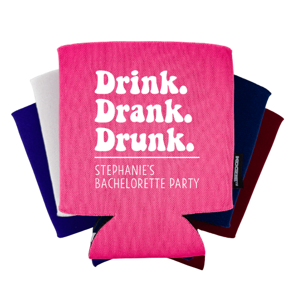 Koozie® Drink Drank Drunk Bridal Shower Drink Cooler