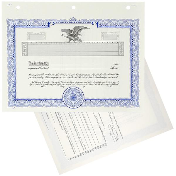 Duke 11 Blank Stock Certificates | Quantity of 20 or More