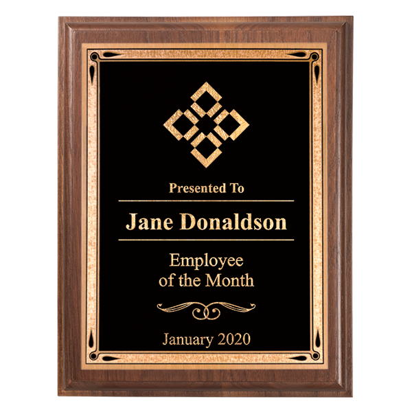 Employee of the Month 5 x 7 Walnut Plaque