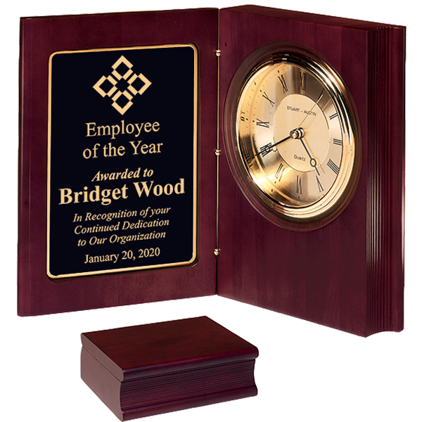 Employee of the Year Desk Book Clock