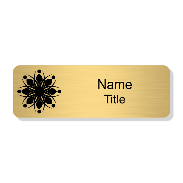 Engraved Gold Economy Name Tag