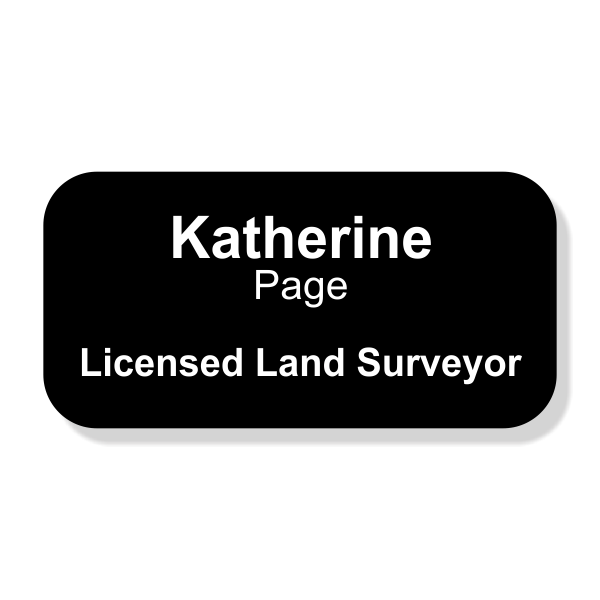 Engraved Licensed Land Surveyor Name Tag