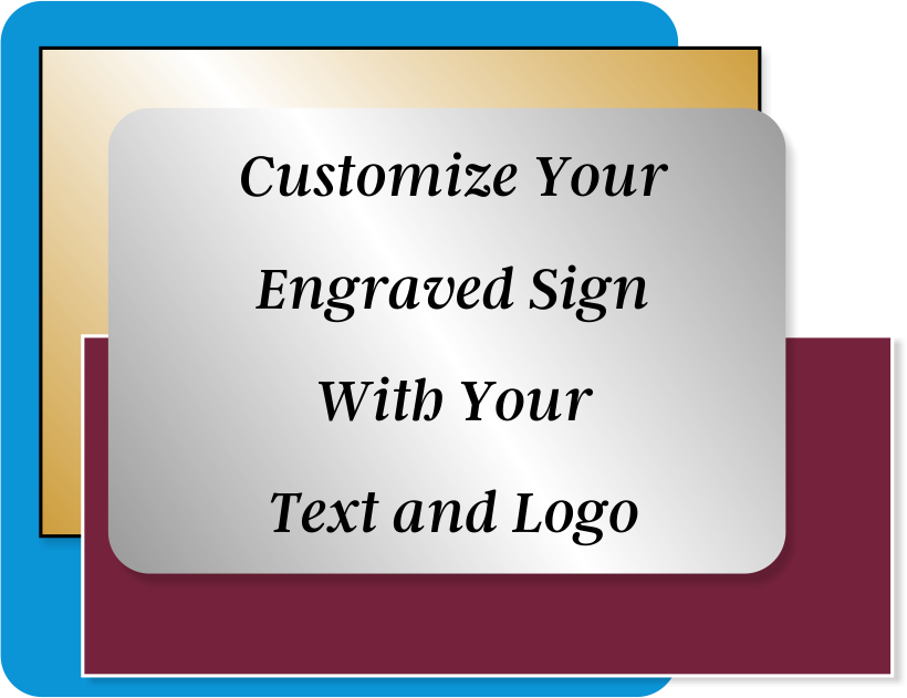 Engraved Sign Horizontal 1 in x 16 in