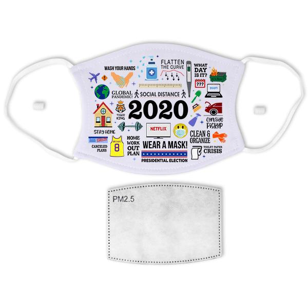 2020 Motif Face Mask