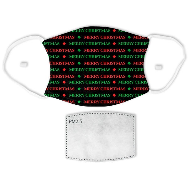 Holiday Merry Christmas Pattern Face Mask