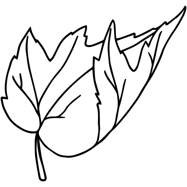 Falling Leaf Outline Stamp