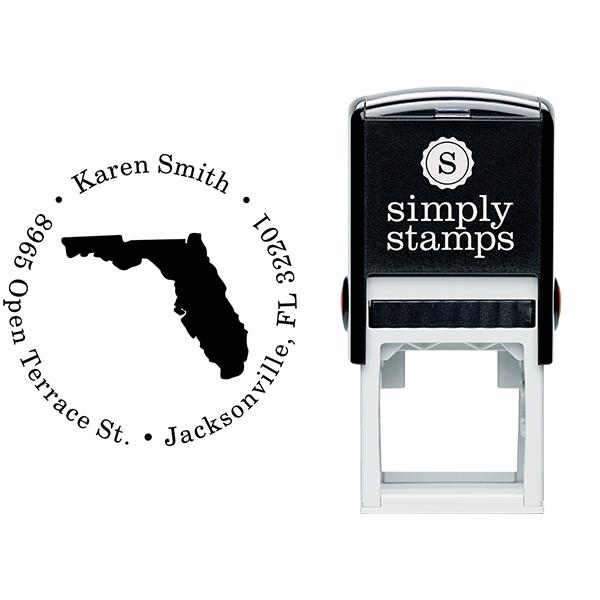 Florida Round Address Stamp Body and Design