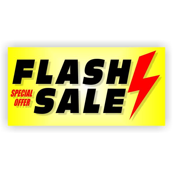Flash Sale Banner | 2' x 4'