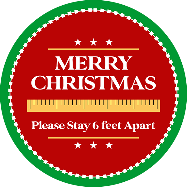 Merry Christmas School Vinyl Floor Decal