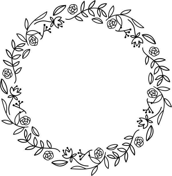 Floral Wreath Stamp