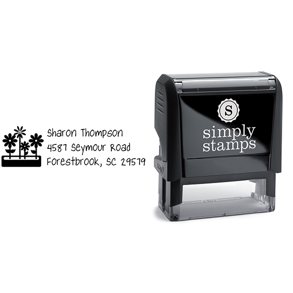 Flower Box Address Stamp Body and Design