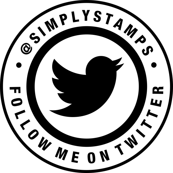 Follow Me On Twitter Handle Round Stamp