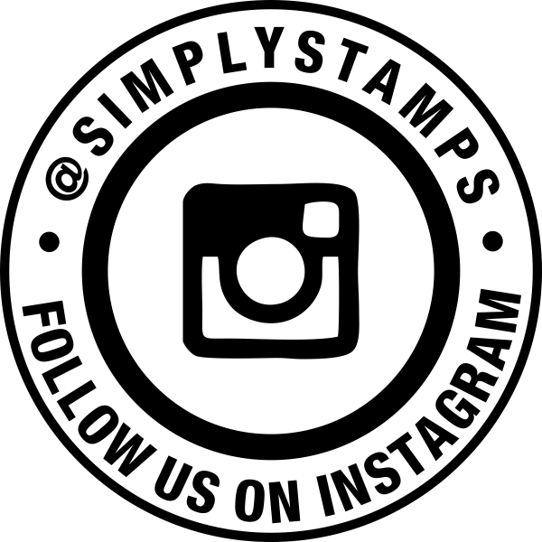 Follow Us On Instagram Handle Round Stamp