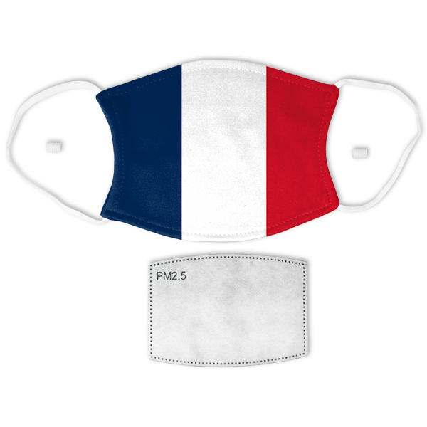 Flag of France Adult Size Face Mask