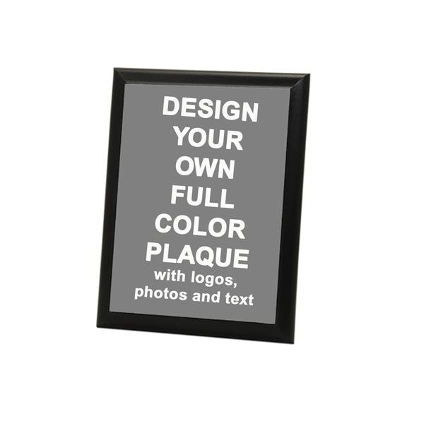 "Full Color 5"" X 7"" Photo Plaque with Black Edge"