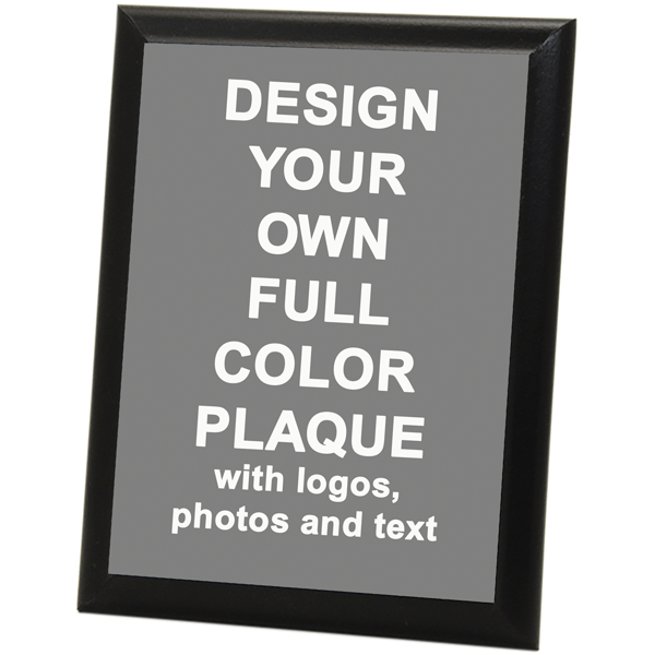 "Full Color 9"" x 12"" Photo Plaque with Black Edge"