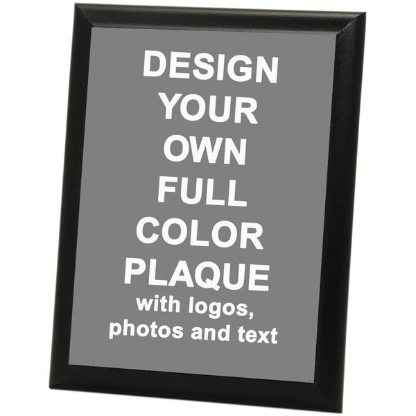 "Full Color 9"" x 12"" Photo Plaque with Black Edge"