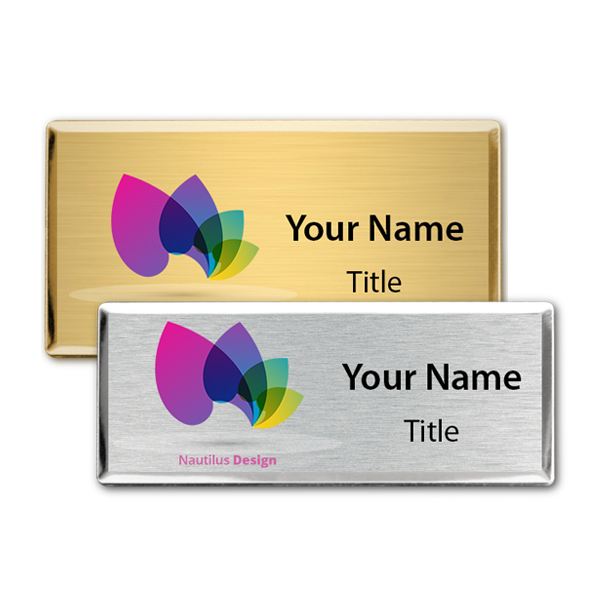 Full Color Executive Beveled Badges