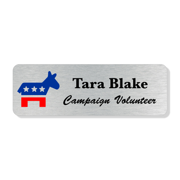 Full Color Liberal Political Name Tag