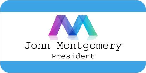 Full Color Logo Border UV Name Tag