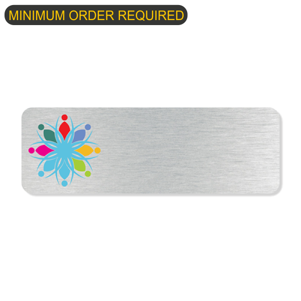 Full Color Logo Economy Name Tag Bundle
