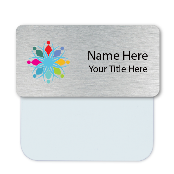 Full Color Name Tag with Pocket Badge Adapter - Large