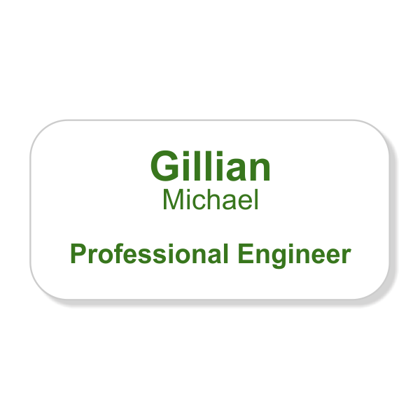 Full Color Professional Engineer Name Tag