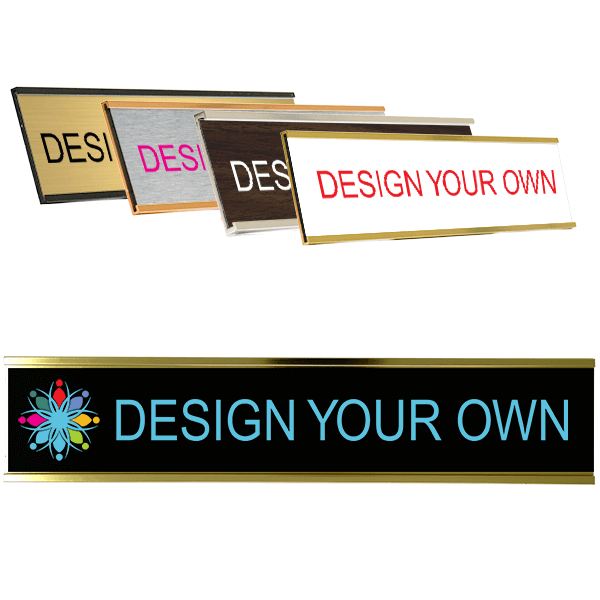 "Full Color Wall Name Plate - 2"" x 10"""