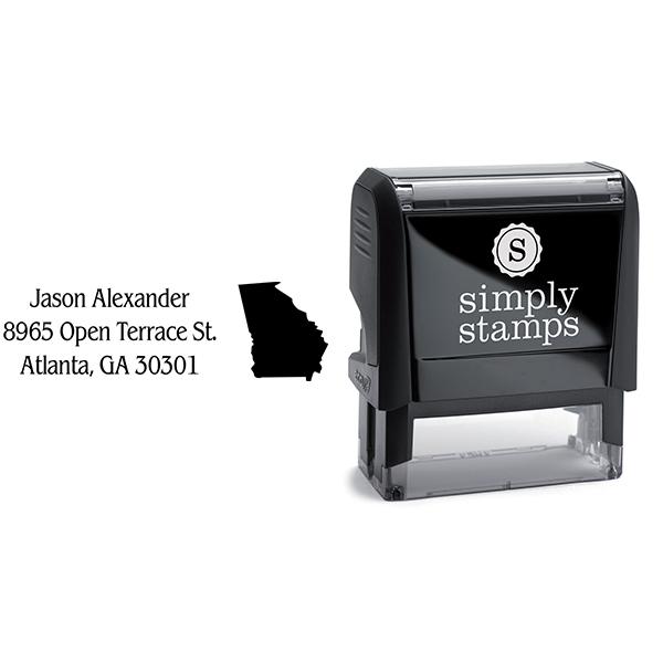 Georgia Return Address Stamp Body and Design