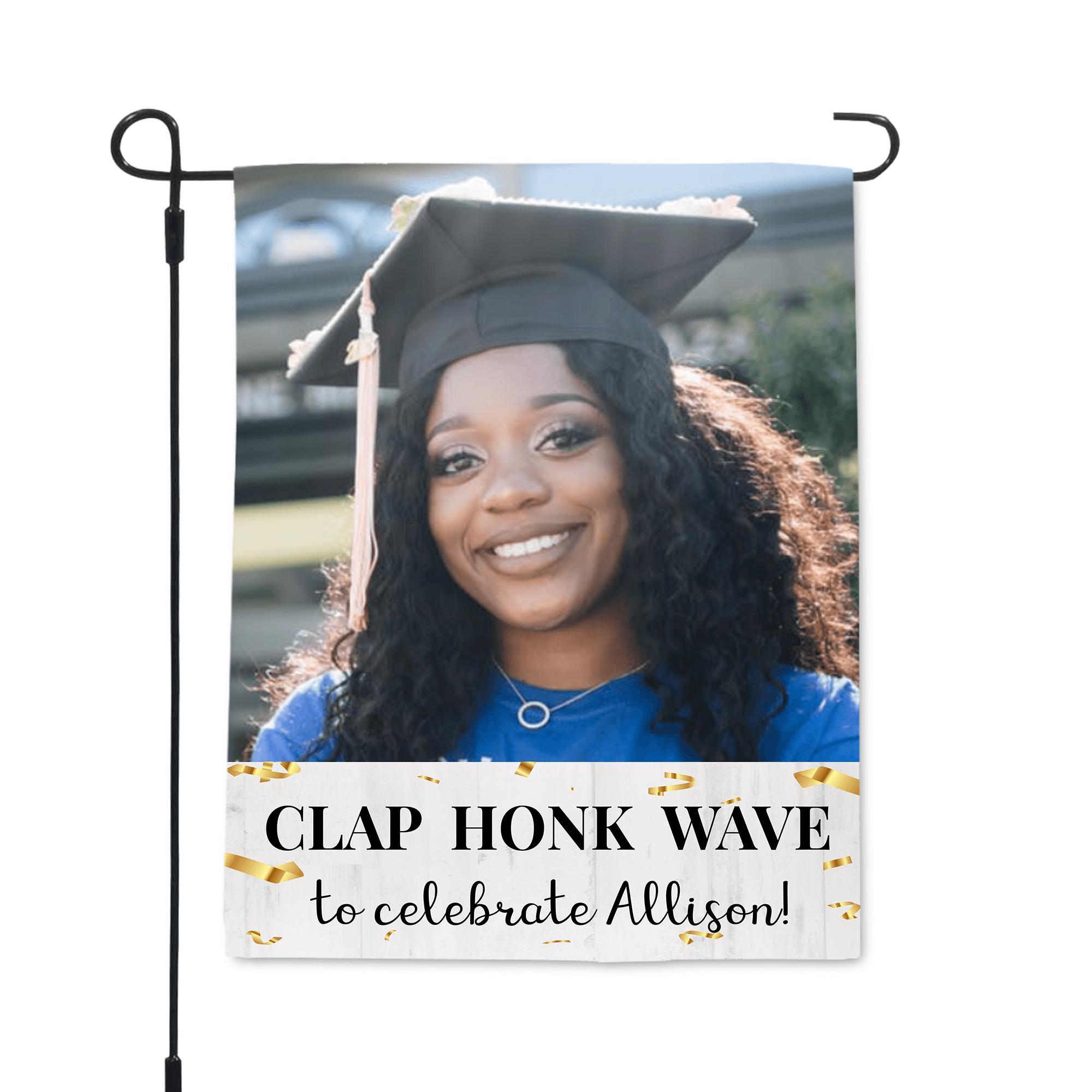 2021 Graduation Clap Honk Wave Garden Flag