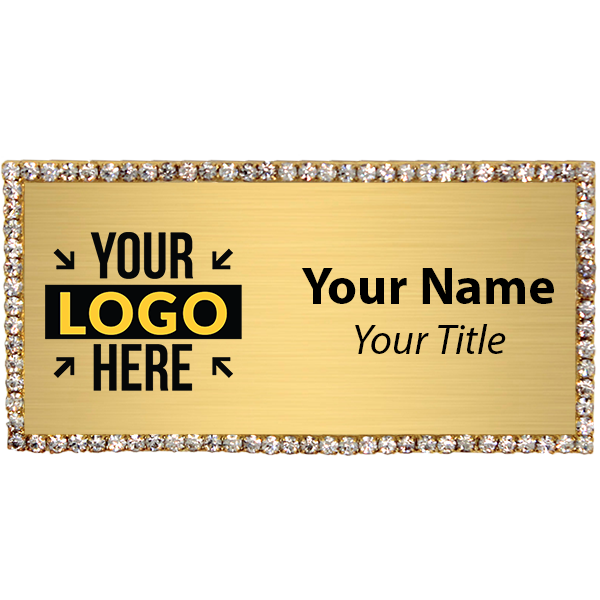 Gold Bling Name Tag