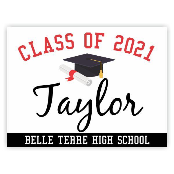 Class of 2021 Diploma | Graduation Yard Sign