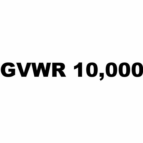 GVWR / GVW Number Vinyl Lettering